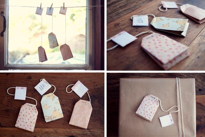 Come confezionare i regali di natale in modo originale: i tea tag