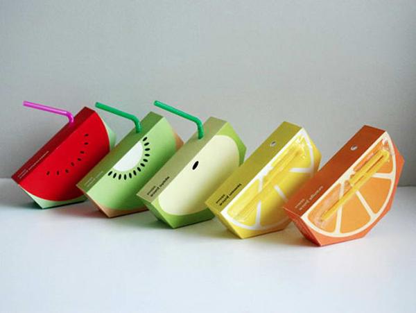Packaging creativo succo di frutta